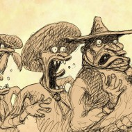 3 cowboys crying - Plymptoons