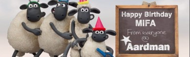 Shaun and Gromit Send Their Best Wishes to the Mifa - © 2015 Aardman Animations
