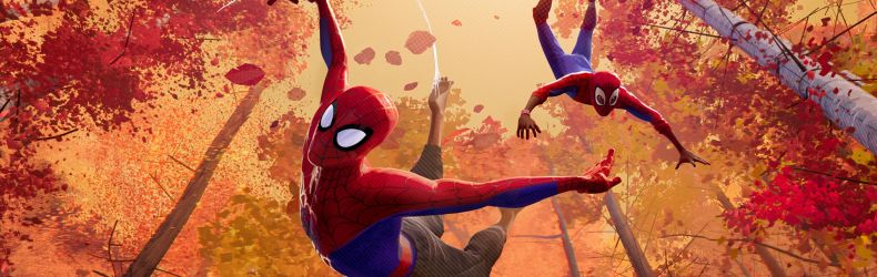 Peter Parker and Miles Morales in Sony Pictures Animation's SPIDER-MAN: INTO THE SPIDER-VERSE © 2018 SPAI. All rights reserved.