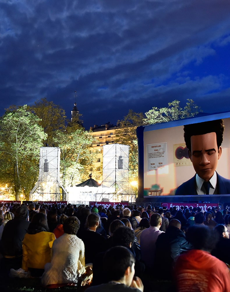 Projection plein air au Festival d'Annecy